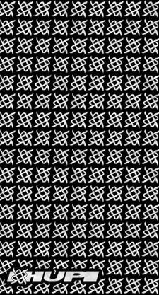 Bandana Hupi Simbol Preto