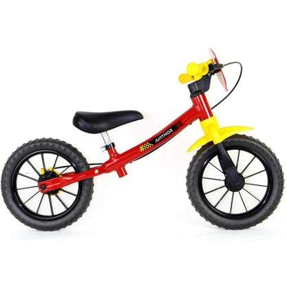Bicicleta Infantil Nathor Balance Fast Aro 12 Vermelho e Amarelo