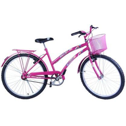 Bicicleta Dalannio Susi Retro Aro 26 Rosa
