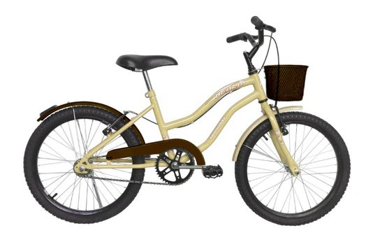 Bicicleta Dalannio Beach Feminina Aro 20 Bege e Marrom
