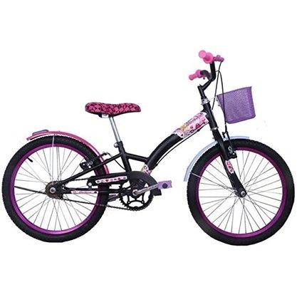 Bicicleta Dalannio Fashion Aro 20 Preta e Rosa