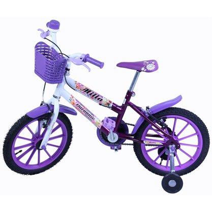 Bicicleta Dalannio Milla Aro 16 Violeta e Branco