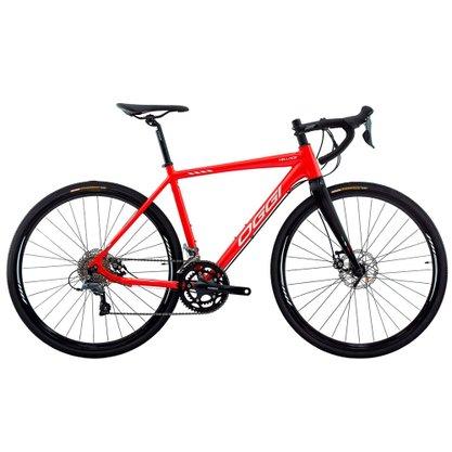 Bicicleta Oggi Velloce Disc Aro 700 Claris 16v 2022 Vermelho e Grafite