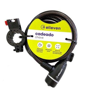 Cadeado Espiral Elleven de Chave 1,80mx12mm Preto