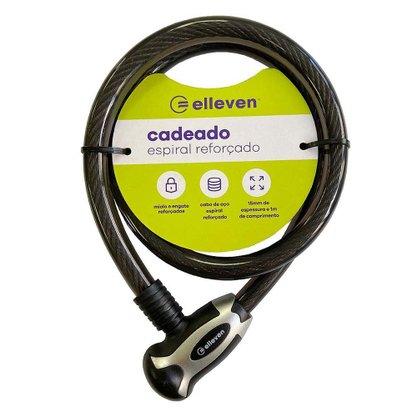 Cadeado Espiral Elleven 1mx15mm com Chave Preto