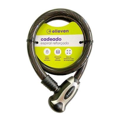 Cadeado Espiral Elleven 80cm X 15mm com Chave Preto