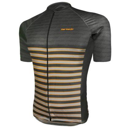Camisa Barbedo Masculino Raglan Prata Preta e Amarela