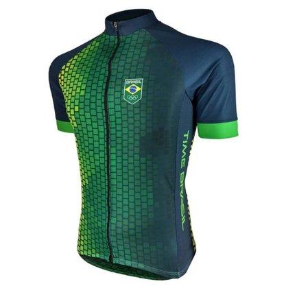Camisa Barbedo Masculina Raglan Podium Brasil Verde