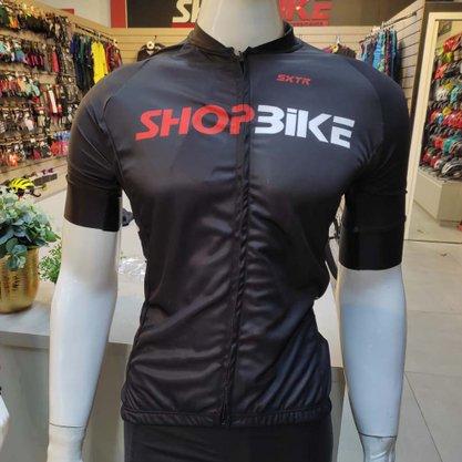 Camisa Sport Xtreme Shopbike Slim Preta e Vermelha