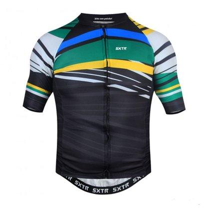 Camisa Sport Xtreme Slim Brasil Preta e Verde