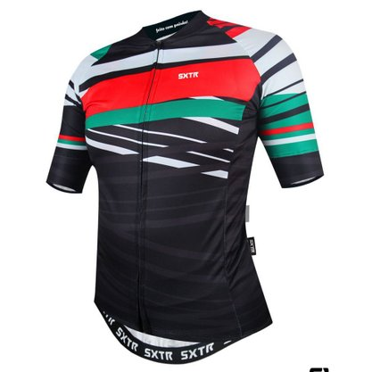 Camisa Sport Xtreme Slim Italia Preta e Verde