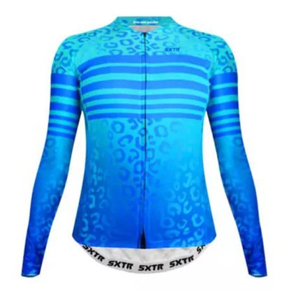 Camisa Sport Xtreme Slim Manga Longa Animali Azul