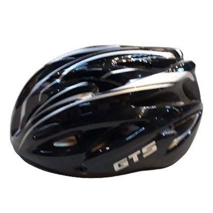 Capacete Gts Mountain Bike Inn Mould Adulto Cor Preto e Prata