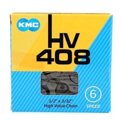 Corrente KMC HV408 6/7 Velocidades Prata