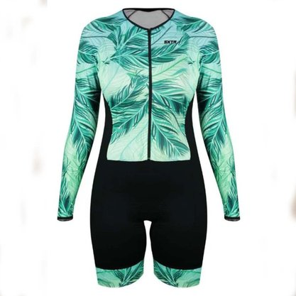 Macaquinho Sport Xtreme Comfort Baoba Manga Longa Verde