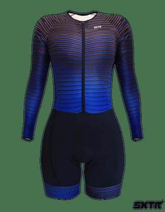 Macaquinho Sport Xtreme Expert Manga Longa Electric Azul