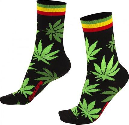 Meia Hupi Cannabis Preto/Verde