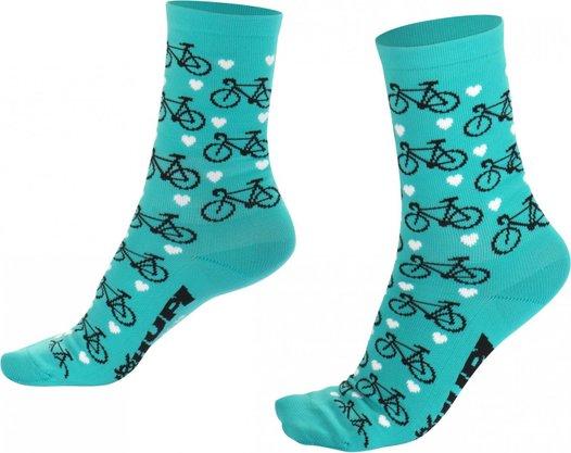 Meia Hupi Love Bike Verde