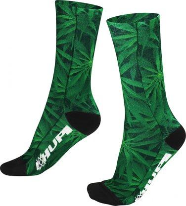Meia Hupi Marijuana Sublimada Verde