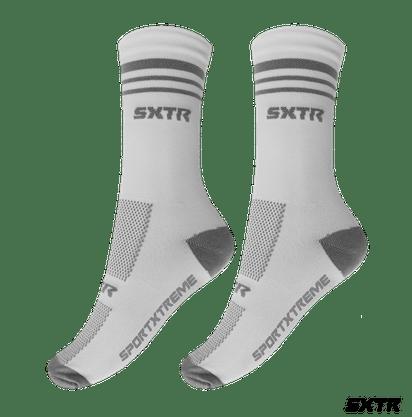 Meia Sport Xtreme Poliamida  Branco/Cinza