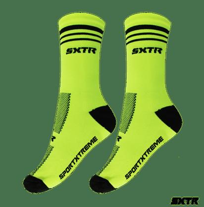 Meia Sport Xtreme Poliamida  verde Neon/Preto