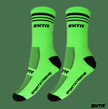 Meia Sport Xtreme Poliamida  verde/preto