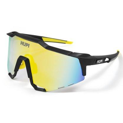 Óculos Hupi Stelvio Preto e Amarelo Lente Amarela