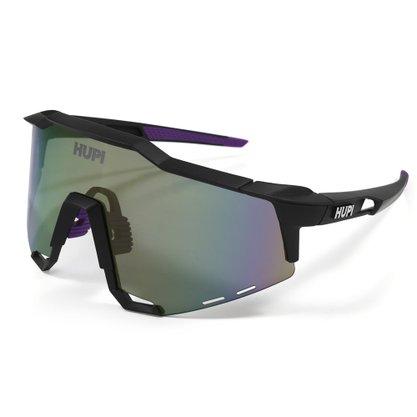 Óculos Hupi Stelvio Preto e Roxo Lente Roxa