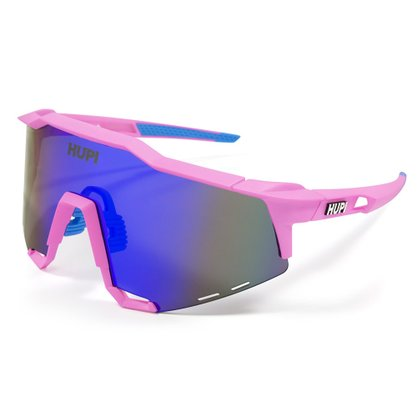 Óculos Hupi Stelvio Rosa e Azul Lente Azul