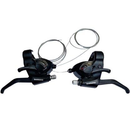 Passador Rapidfire Shimano Tourney 3 e 7v Com Alavanca Dir e Esq Preto