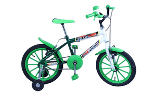 Bicicleta Dalannio Kids Aro 16 Branca e Verde