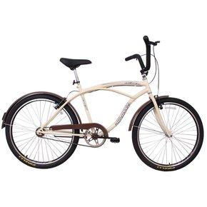 Bicicleta Dalannio Beach Masculina Aro 26 Bege e Marrom