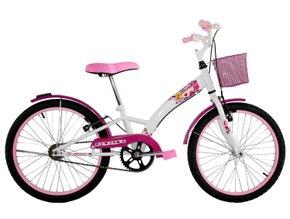 Bicicleta Dalannio Fashion Aro 20 Branca e Rosa