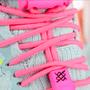 Cadarço Elástico Hupi Laces Rosa Neon