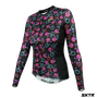 Camisa Sport Xtreme Slim Manga Longa Cycling Preta e Rosa